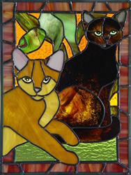 Art: Jungle Kitties: Chloe and Jack by Artist Dawn Lee Thompson