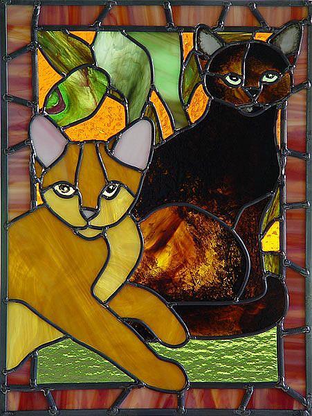 Art: Jungle Kitties: Chloe and Jack by Artist Dawn Lee Thompson
