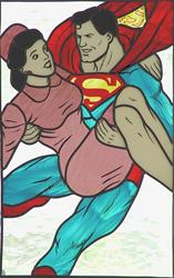 Art: Romeo & Juliet: Superman & Lois (rip inspired by the art of Doris H. David) by Artist Dawn Lee Thompson