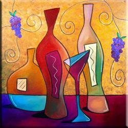 Art: For All The Good Times - Wine 82 by Thomas C. Fedro