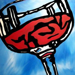 Art: A Little Tipsy - Wine 77 by Artist Thomas C. Fedro