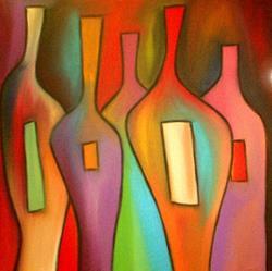 Art: Wine 40 by Thomas C. Fedro