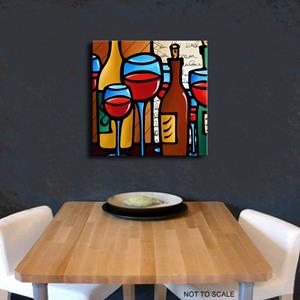 Detail Image for art Wine 116 2424 GW Original Abstract Art Peace Offering