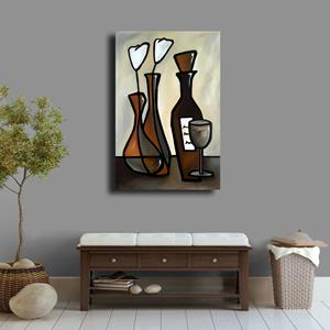Detail Image for art Original Abstract Wine Art Elegent