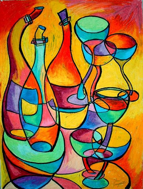 Painting Abstract Designs On Wine Glasses