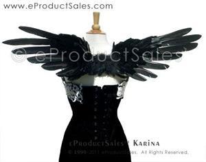 Detail Image for art eProductSales Original Karina Black feather Angel Wings