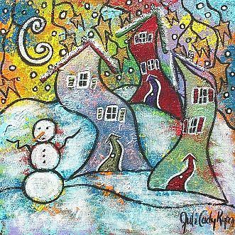 Art: Wonderfully Wacky Winter by Artist Juli Cady Ryan