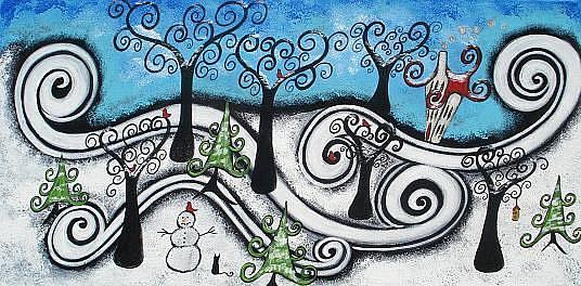Art: A Whimsical Winter by Artist Juli Cady Ryan