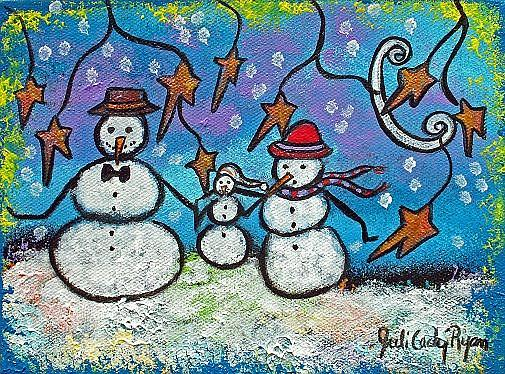 Art: The Snow Family by Artist Juli Cady Ryan