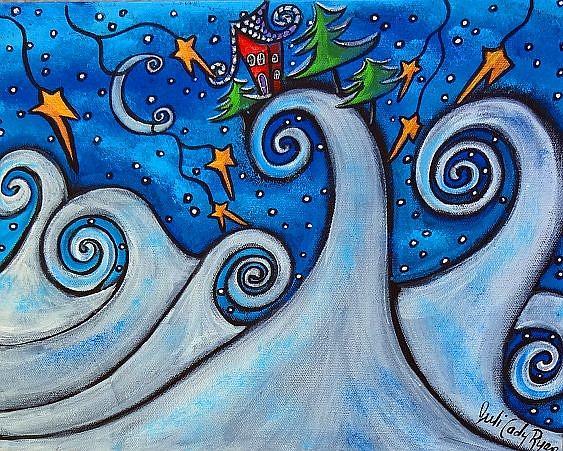 Art: Winter Waves by Artist Juli Cady Ryan