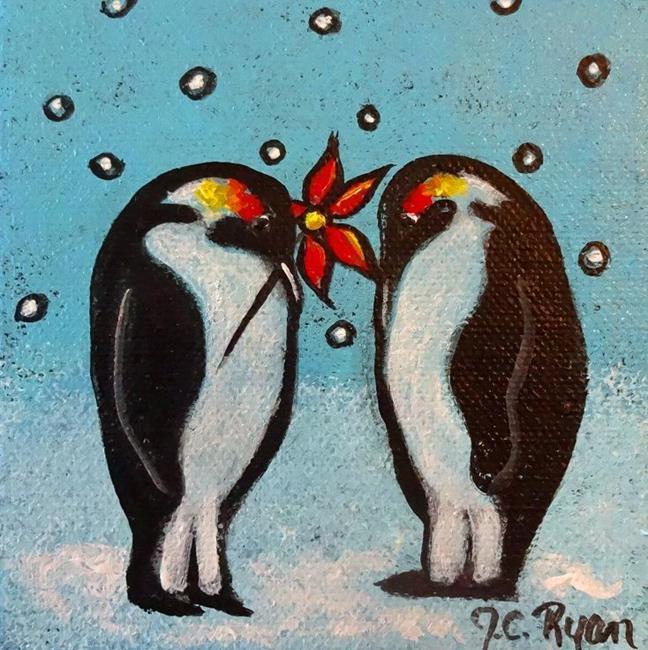 Art: Penguin Love by Artist Juli Cady Ryan