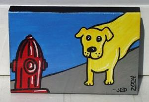 Detail Image for art Mini: Yellow Dog's Temptation
