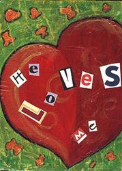 Art: He Loves Me by Artist Dianne McGhee