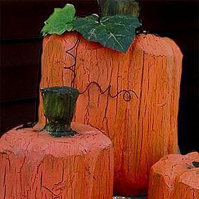 Detail Image for art Wood Carved Pumpkins