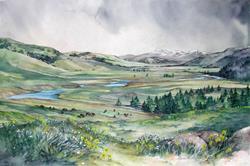 Art: Lamar Valley - Spring by Artist Lynn Bickerton Chan
