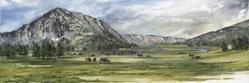 Art: National Park Mountain by Artist Lynn Bickerton Chan