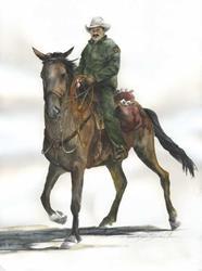 Art: Electric Cowboy by Artist Lynn Bickerton Chan