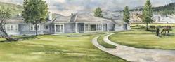 Art: Mammoth Reamer House by Artist Lynn Bickerton Chan