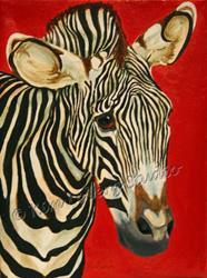 Art: The Zebra Riddle by Artist Kim Loberg