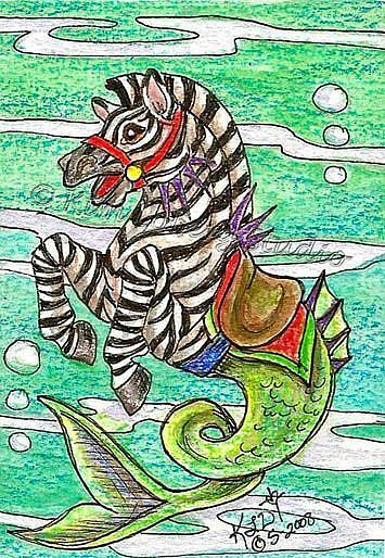 Art: Zebra Hippocampus by Artist Kim Loberg