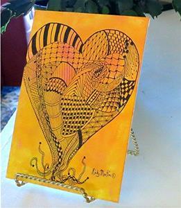 Detail Image for art Zentangle Inspired Heart # 7