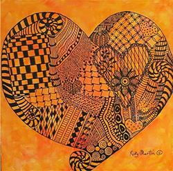 Art: Within my Heart - Zentangle Inspired Art by Artist Ulrike 'Ricky' Martin