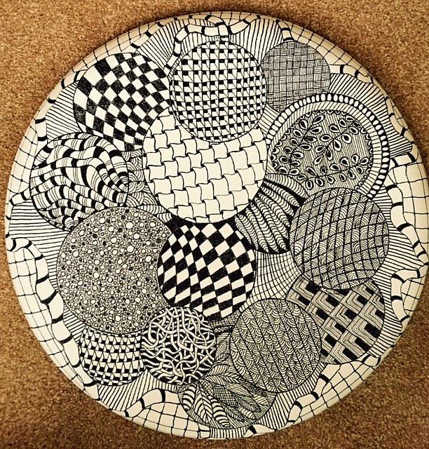 Art: Balls - Mandala - Zentangle Inspired Art by Artist Ulrike 'Ricky' Martin