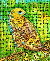Art: Hawk - Zentangle Inspired Art by Artist Ulrike 'Ricky' Martin