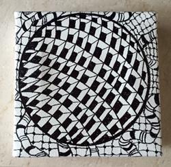 Art: Zentangle Inspired Geometric Painting by Artist Ulrike 'Ricky' Martin