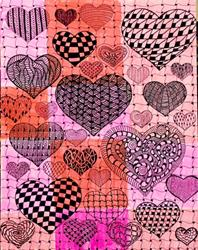 Art: Zentangle Inspired All Heart by Artist Ulrike 'Ricky' Martin