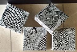 Art: Zentangle Inspired Geometric Cubes by Artist Ulrike 'Ricky' Martin