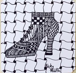 Art: Zentangle Inspired Art by Artist Ulrike 'Ricky' Martin