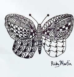 Art: Butterfly - Zentangle Inspired by Artist Ulrike 'Ricky' Martin
