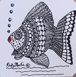 Art: Fish - Zentangle Inspired Art by Artist Ulrike 'Ricky' Martin
