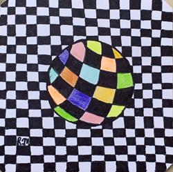 Art: Ball -Zentangle Inspired by Artist Ulrike 'Ricky' Martin