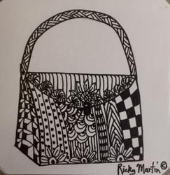 Art: Purse - Zentangle Inspired by Artist Ulrike 'Ricky' Martin