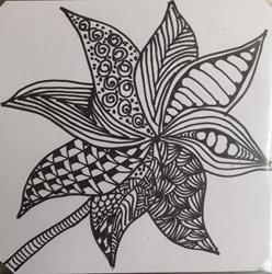 Art: Pinwheel - Zentangle Inspired by Artist Ulrike 'Ricky' Martin