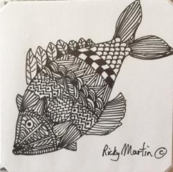 Art: Fish - Zentangle Inspired by Artist Ulrike 'Ricky' Martin