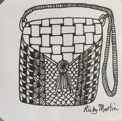 Art: Bag - Zentangle Inspired by Artist Ulrike 'Ricky' Martin