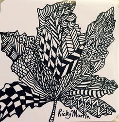 Art: Maple Leaf - Zentangle Inspired by Artist Ulrike 'Ricky' Martin