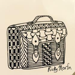 Art: Satchel - Zentangle Inspired by Artist Ulrike 'Ricky' Martin