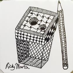 Art: Pencil Sharpener - Zentangle Inspired by Artist Ulrike 'Ricky' Martin