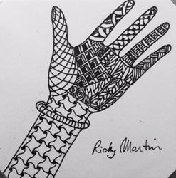 Art: Hand - Zentangle Inspired by Artist Ulrike 'Ricky' Martin