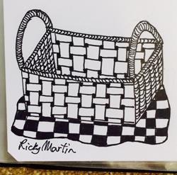 Art: Basket - Zentangle Inspired by Artist Ulrike 'Ricky' Martin