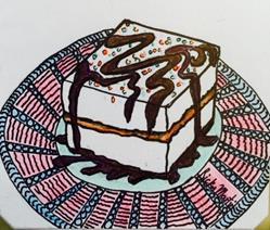 Art: Cake -  Zentangle Inspired by Artist Ulrike 'Ricky' Martin