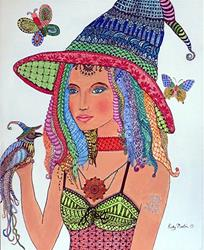 Art: The Good Fairy - Zentangle Inspired by Artist Ulrike 'Ricky' Martin