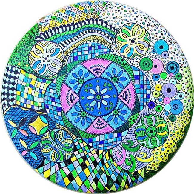 Art: Mandala - Zentangle Inspired Art by Artist Ulrike 'Ricky' Martin