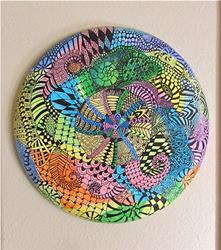 Art: Mandala with Ammonites Zentangle Inspired by Artist Ulrike 'Ricky' Martin