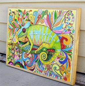 Detail Image for art Zentangle Inspired Art  - Panther Chameleon