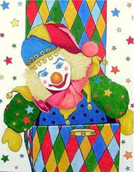 Art: Harlequin in a Box - available in my etsy store by Artist Ulrike 'Ricky' Martin